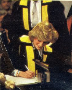 May 8 1984 Diana, Patron, Royal College of Physicians & Surgeons of Glasgow, accepted an honorary fellowship of the college and visited the Royal College of Physicians & Surgeons in Glasgow, Scotland