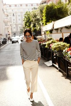 Casual stripe t-shirt and pants