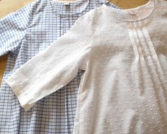"""Women's pleated blouse Pattern from """"Always Natural Clothes - Japanese Sewing Pattern Book for Women"""""""