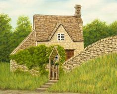 """Cotswold Cottage"" pastel painting by Rebecca Prough"