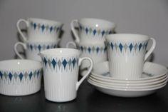 Figgjo - Ruth Mugs, Retro, Tableware, Kitchen, Dinnerware, Cooking, Tumblers, Tablewares, Kitchens