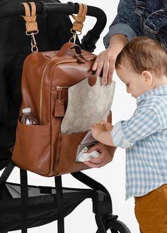 TWELVE little - Peek-a-Boo Backpack in Brown Toffee | Queen Bee