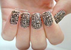 Hieroglyphic nails