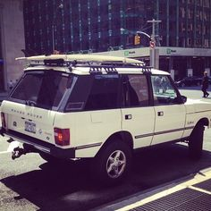 One day, I will text my husband and tell him I am waiting outside (driving our range rover with our surfboard on top) :) Range Rover Lwb, Landrover Range Rover, Range Rover Classic, Range Rovers, Kate Spade, Tractor, Surfboard, Chelsea, Waiting
