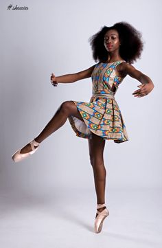 The fashion brand collaborated with a talented Ballet dancer Abiola Efunshile as they wanted to showcase a rare sight of a British African Ballerina in African Prints. The collection its self is inspired heavily by the prints