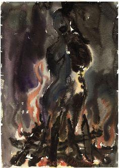 'Brunhildes Tod' (1976) by Anselm Kiefer