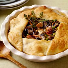 Weight Watchers Recipe - Old Fashioned Chicken Pot Pie- really good without the mushrooms!