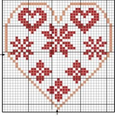 Cross Stitch Pictures, Cross Stitch Heart, Cross Stitch Cards, Simple Cross Stitch, Cross Stitch Samplers, Cross Stitching, Diy Embroidery, Cross Stitch Embroidery, Embroidery Patterns