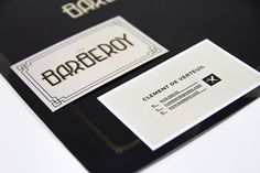 The Barberoy on Behance, branding, business cards