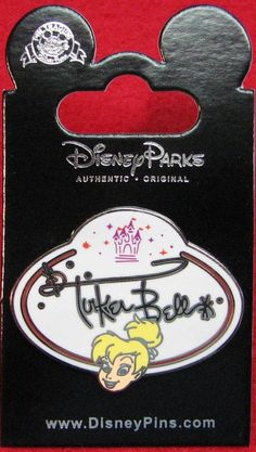 Disney Pin HKDL - Cast Member Name Badge Tag Mystery Collection-TINKER BELL