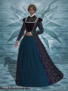 The Witcher 3 - Anna Henrietta (Black Dress) by MoogleOutFitters.deviantart.com on @DeviantArt