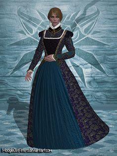 The Witcher 3 - Anna Henrietta (Black Dress) by MoogleOutFitters