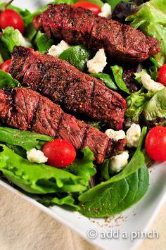 Seven Pepper Steak Salad Recipe from @addapinch | Robyn Stone | Robyn Stone