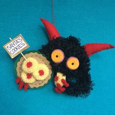 KRAMPUS ORNAMENT cookie thief by hiGuys on Etsy