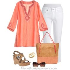 Tunic with White Jeans
