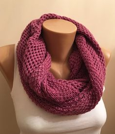 A personal favorite from my Etsy shop https://www.etsy.com/listing/260174331/infinity-knit-loop-scarfcowl-scarf-seed
