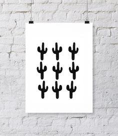 Cactussen | » Zwart Wit | Postersinhuis.nl