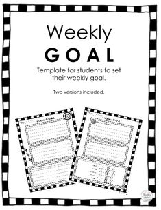 This Student Goals and Reflection template comes with two versions for your students to document their weekly goals, action steps and learning reflections. Paragraph Writing, Opinion Writing, Persuasive Writing, Writing Rubrics, New School Year, School Fun, School Stuff, Preschool Classroom, Classroom Themes
