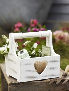 Vintage Heart Design Trug / Wooden Basket by Retreat Home, the perfect gift for Explore more unique gifts in our curated marketplace. Diy Wood Box, Wood Boxes, Wooden Diy, Wooden Basket, Vintage Heart, Garden Accessories, Do It Yourself Home, Shabby Chic Style, Inspirational Gifts