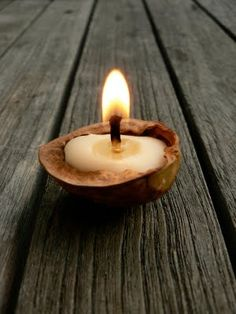 walnut candle