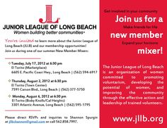 Attention Long Beach, CA Ladies: Get involved in your community! The Junior…