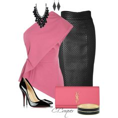 Pink & Black Only Contest, created by ccroquer on Polyvore