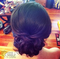 Bridesmaid hair.