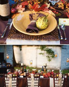 Gorgeous & Rustic Outdoor Thanksgiving Dinner