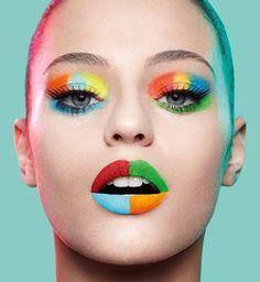 Colors make up makeup, makeup art ve beauty makeup Beauty Make-up, Beauty Shoot, Natural Beauty, Make Up Looks, Extreme Makeup, Fantasy Make Up, Rainbow Makeup, Make Up Art, Beauty Portrait