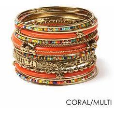 Monaco Bangle Set ($75) ❤ liked on Polyvore featuring jewelry, bracelets, hinged bangle, hinged bracelet, amrita singh, bangle bracelet and amrita singh jewellery