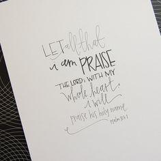 handwritten art original  Psalm 1031 by TruthinWrit on Etsy, $25.00