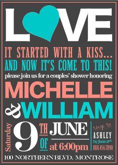 Bridal Shower/Engagement Party Invitation. $15.00, via Etsy.