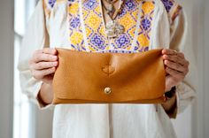 Ethnics and Anchors are my jam. Image of The Marfa Clutch  Doefabco Anchor Branded Clutch