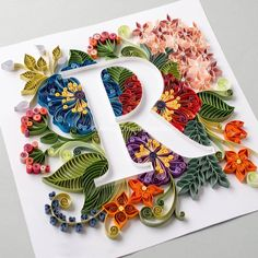 paper art Creative Paper Lettering Artworks by Anna Chiara Valentini - Inspiration Grid Arte Quilling, Quilling Letters, Paper Quilling Patterns, Quilled Paper Art, Quilling Paper Craft, Paper Crafts, Paper Letters, String Art Letters, Quilling Ideas