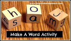 "Directions for making your own ""Make A Word"" activity. FREE recording template. Great activity for small group instruction."