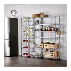 OMAR 3 Regalelemente IKEA Leicht zu montieren, kein Werkzeug erforderlich. Versetzbare Böden für bedarfsangepasste Aufbewahrung.