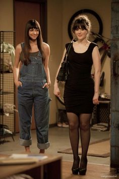 Jess wearing Black Dress in New Girl Pilot Episode, this is Cece dress actually :))
