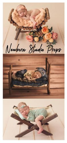 These beautiful newborn photo props would help baby to relax and help you get pretty pictures! Wood Rustic Miniature Hammock, Deck Chair, Newborn Photography Prop - Ready to Ship #newbornphotography #photoprops #newbornbaby #photography #baby #rustic #ad