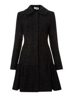 1fa68ef6c56f Helene Berman Sparkle wool frock coat Black - House of Fraser Redingote