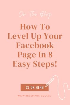 Setting up your Facebook page can be tricky if you're not familiar with all these online social platforms and all their features. That's why I made it easy for you with these 8 simple steps you can follow to elevate your page and give your fans the best experience on your page. Facebook Business, Facebook Marketing, Business Marketing, Business Pages, Social Platform, Platforms, About Me Blog, Fans, Social Media