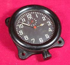 USSR Military Soviet AirForce Aircraft Cockpit Tank Clock Zchz Zlatoustovskie ACHO 1936
