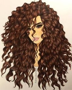 Black Girl Art, Black Women Art, Curly Hair Drawing, Curly Hair Cartoon, Sarra Art, Girly M, Natural Hair Art, Cute Girl Drawing, Girly Drawings