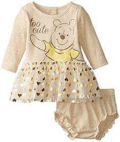 Disney Baby Girls' Pooh 2 Piece Dress Set, Wheat Heather... https://www.amazon.com/dp/B00UJFMOIM/ref=cm_sw_r_pi_dp_0OmLxbW7H482B