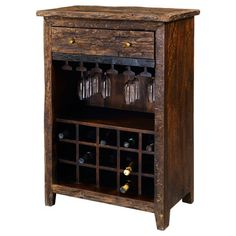 turn a small chest of drawers into a stylish Wine Cabinet. perfect for small spaces