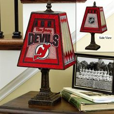 New Jersey Devils Art-Glass Table Lamp