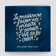 """Carte de voeux """" Typographie"""""""