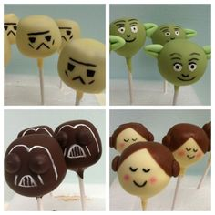 Star Wars Cake Pops via @cakepoppins
