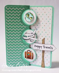 The Dining Room Drawers: Purple Onion Design Stamps Happy Travels Sizzix Flip-its Card