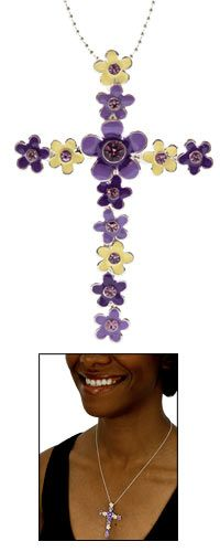 Heavenly Flowers Cross Necklace at The Animal Rescue Site (to GG from Brooke) $19.95