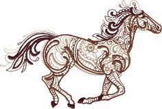 this would be an awesome tatoo #embroidered #horse quilling pattern